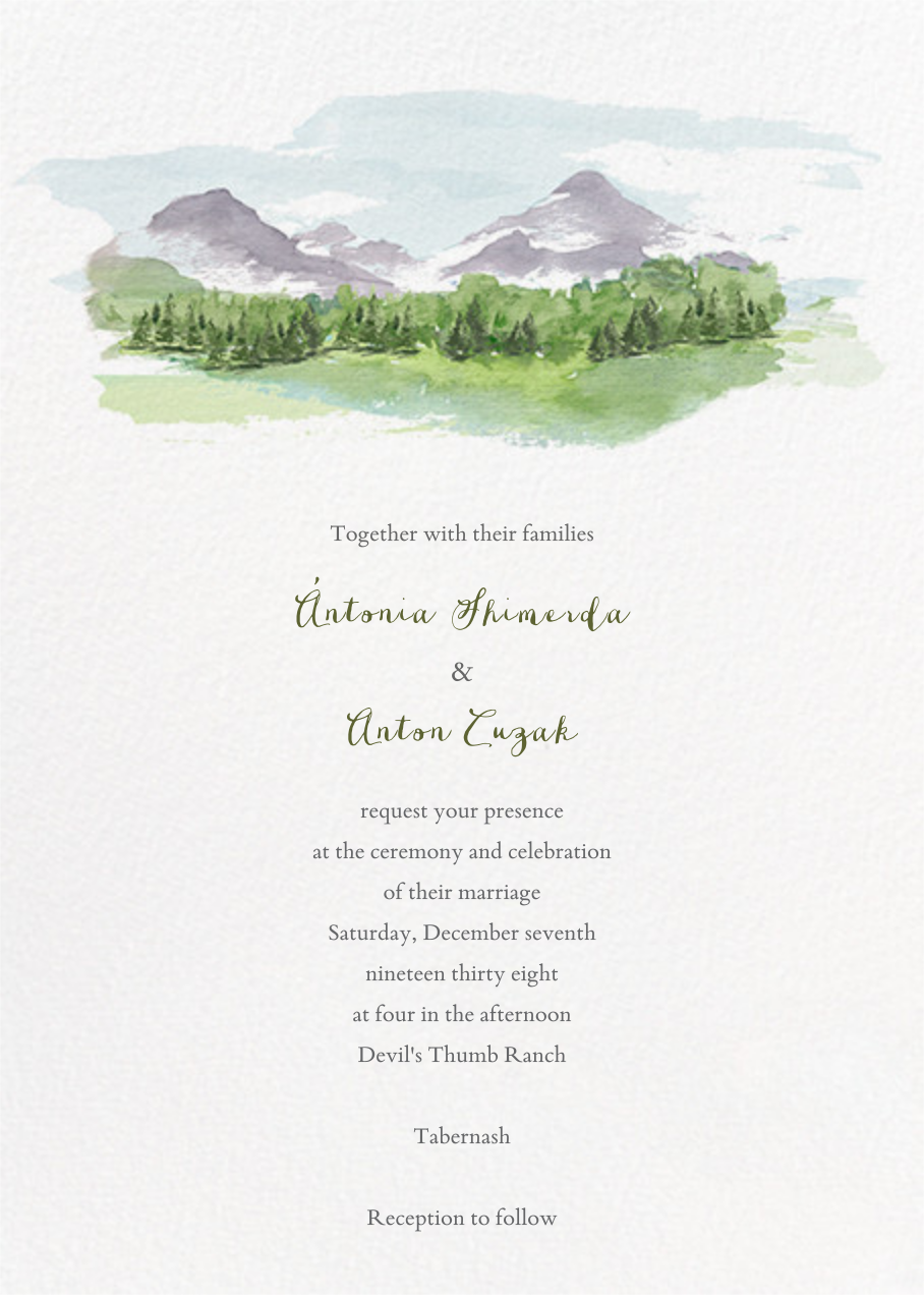 Mountain Scene (Invitation) - Paperless Post - All