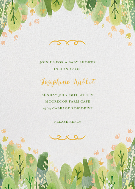 Leaf Hedge - Paperless Post - Baby shower