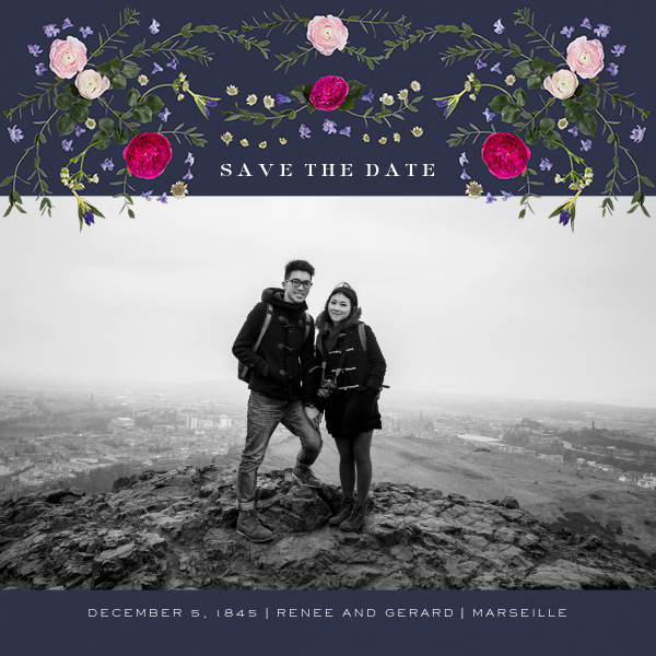 Damascena (Photo Save the Date) - Navy - Paperless Post - Photo