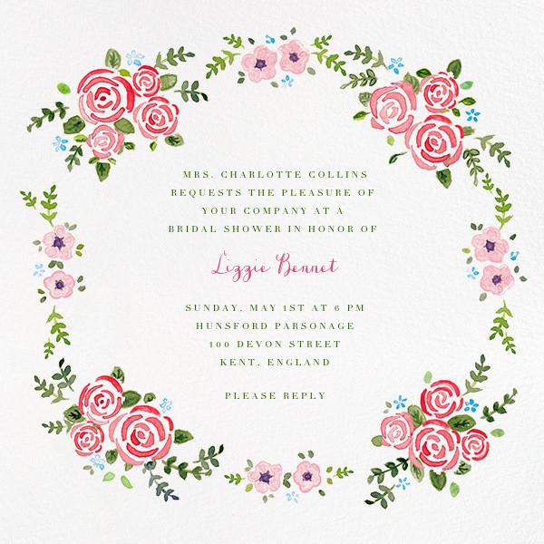 Rose Garland - Paperless Post - Bridal shower
