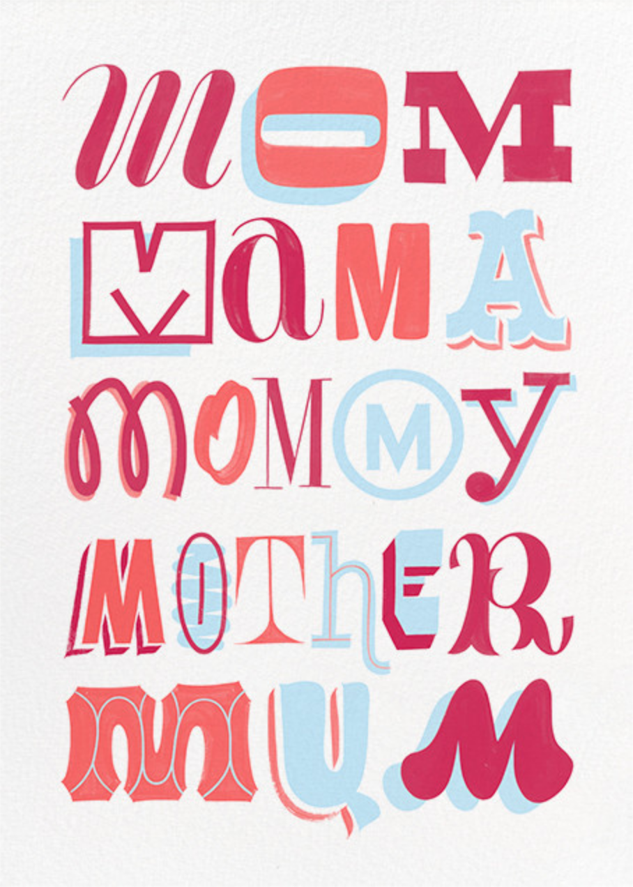 Mother's Day Typography - Paperless Post