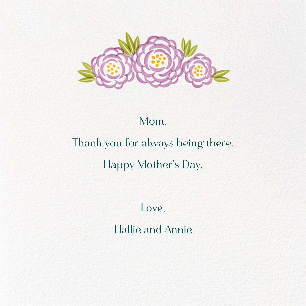 Perennial Love - Paperless Post - Mother's Day - card back