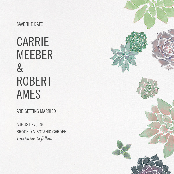 Echeveria (Save the Date) - Paperless Post