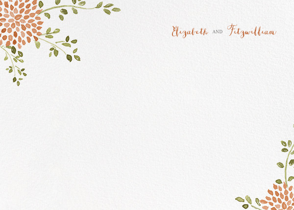 Dahlias (Thank You) - Pumpkin - Paperless Post - Personalized stationery