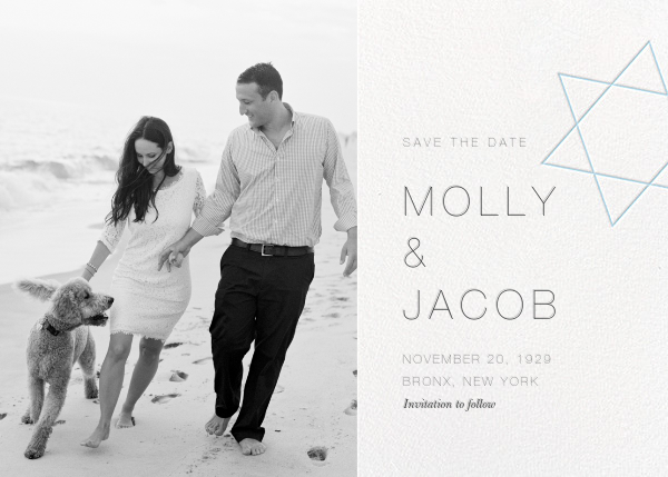 Nissuin (Photo Save the Date) - Glacier - Paperless Post