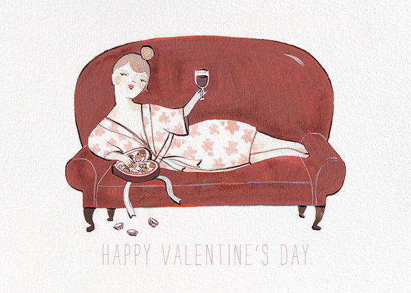 Burgundy and Chocolate (Kelsey Garrity Riley) - Red Cap Cards - Valentine's Day