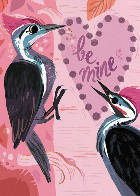Woodpecker Love (Meg Hunt) - Red Cap Cards - Valentine's Day