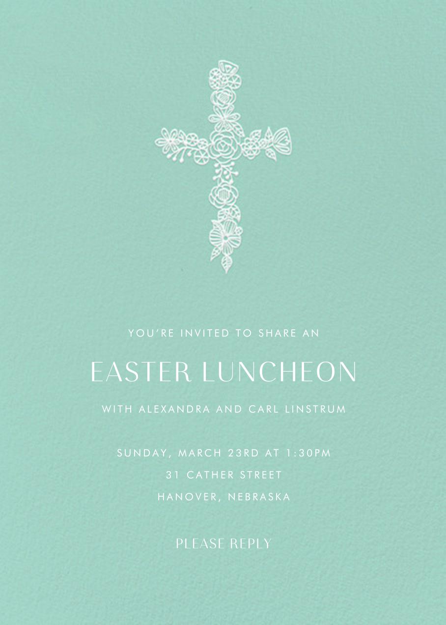Thérèse II (Invitation) - Celadon - Paperless Post - Easter