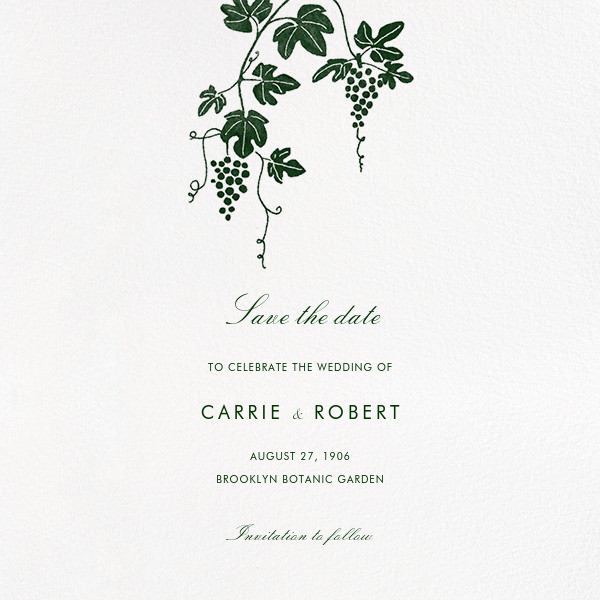 Vineyard II (Save the Date) - Hunter - Paperless Post - Save the date