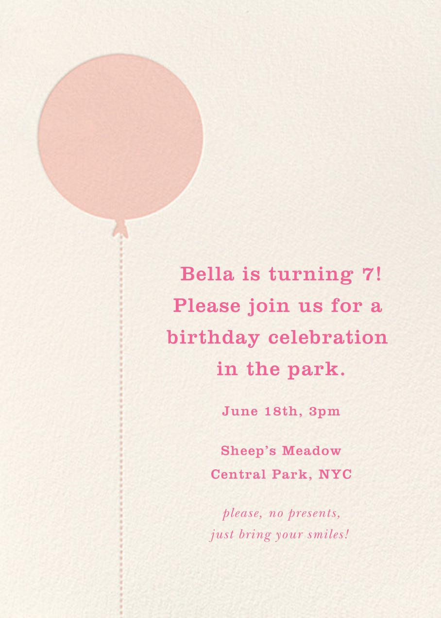 Balloon Birthday (Photo) - Pink - kate spade new york - Kids' birthday - card back