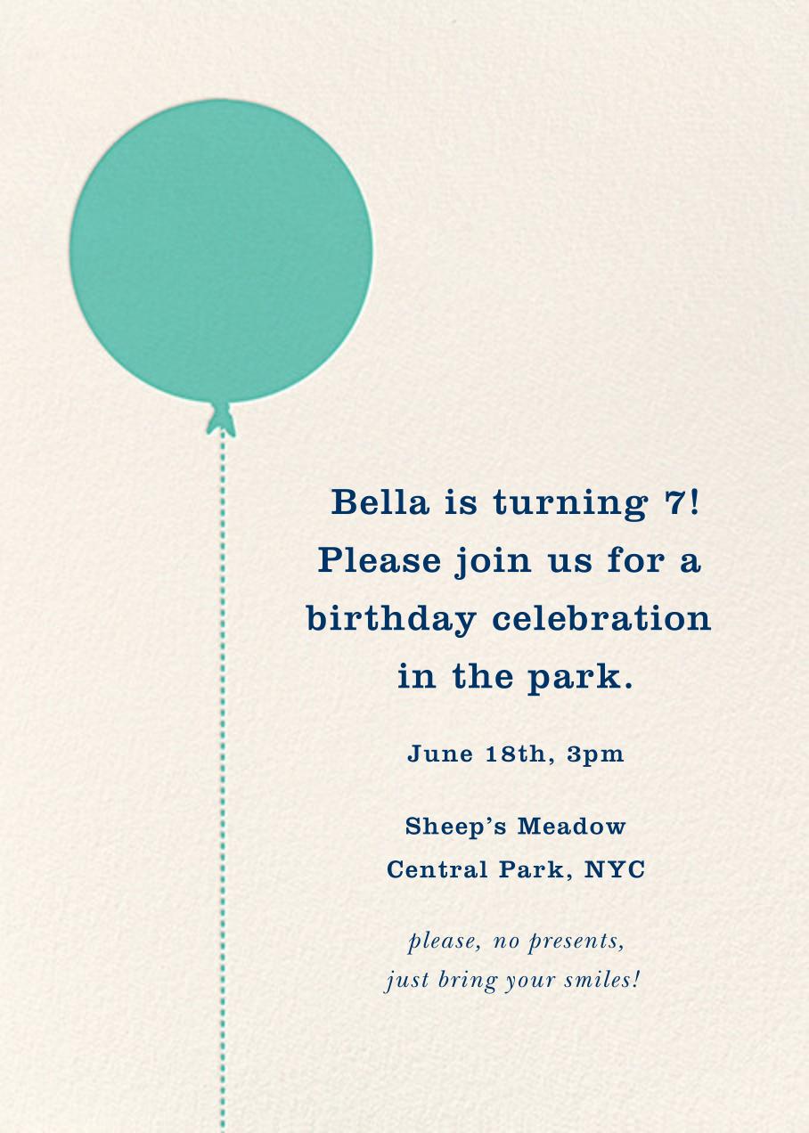 Balloon Birthday (Photo) - Green - kate spade new york - Kids' birthday - card back