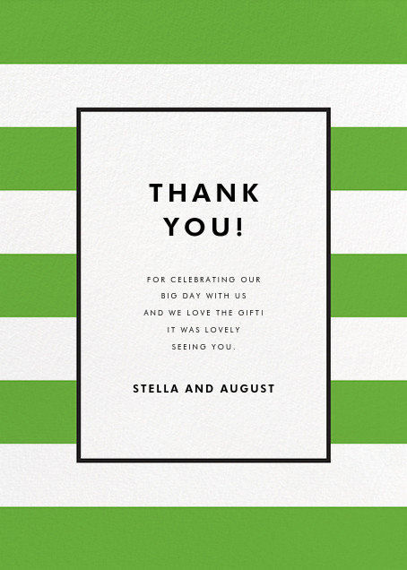 Stripe Suite (Stationery) - Green - kate spade new york - General