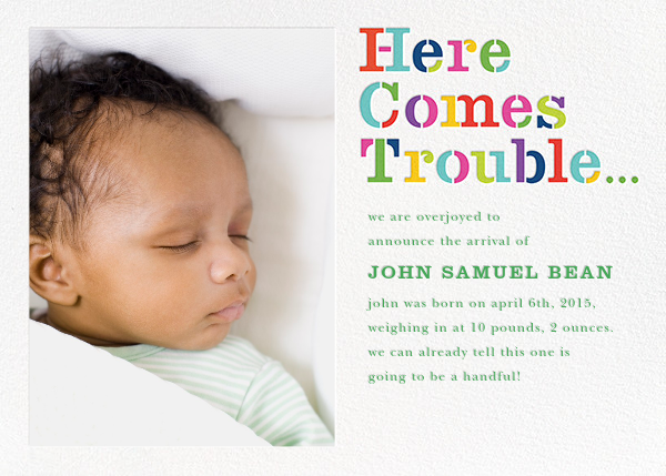 Here Comes Trouble (Photo) - kate spade new york - Birth