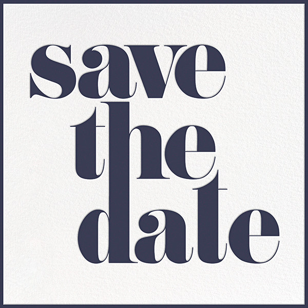 A Golden Date - White/Navy - kate spade new york - Party save the dates