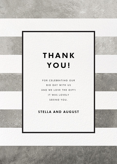 Stripe Suite (Stationery) - Silver - kate spade new york - General