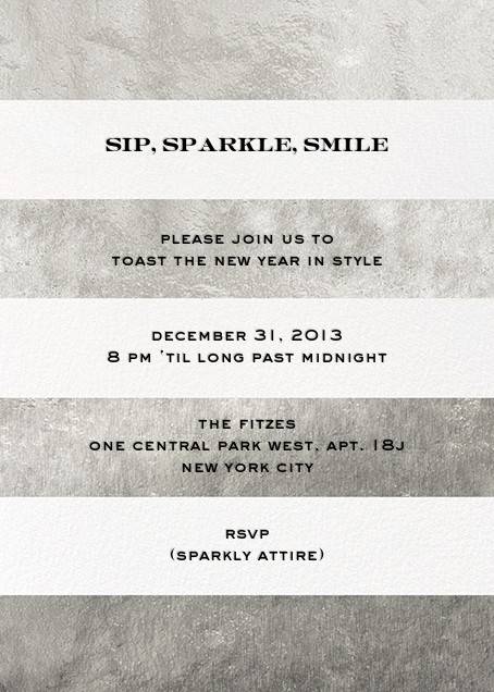Evergreen Stripes - Silver/White - kate spade new york - New Year's Eve