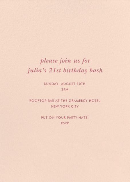 Pop Fizz Clink! (Tall) - kate spade new york - Adult birthday - card back