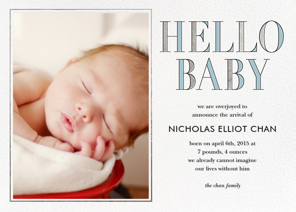 Hello Baby - Blue - kate spade new york - Birth