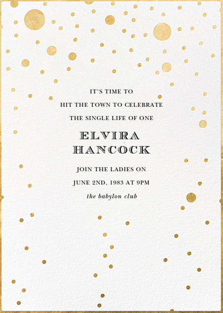 Champagne Bubbles (Single-Sided) - kate spade new york - Bachelorette party