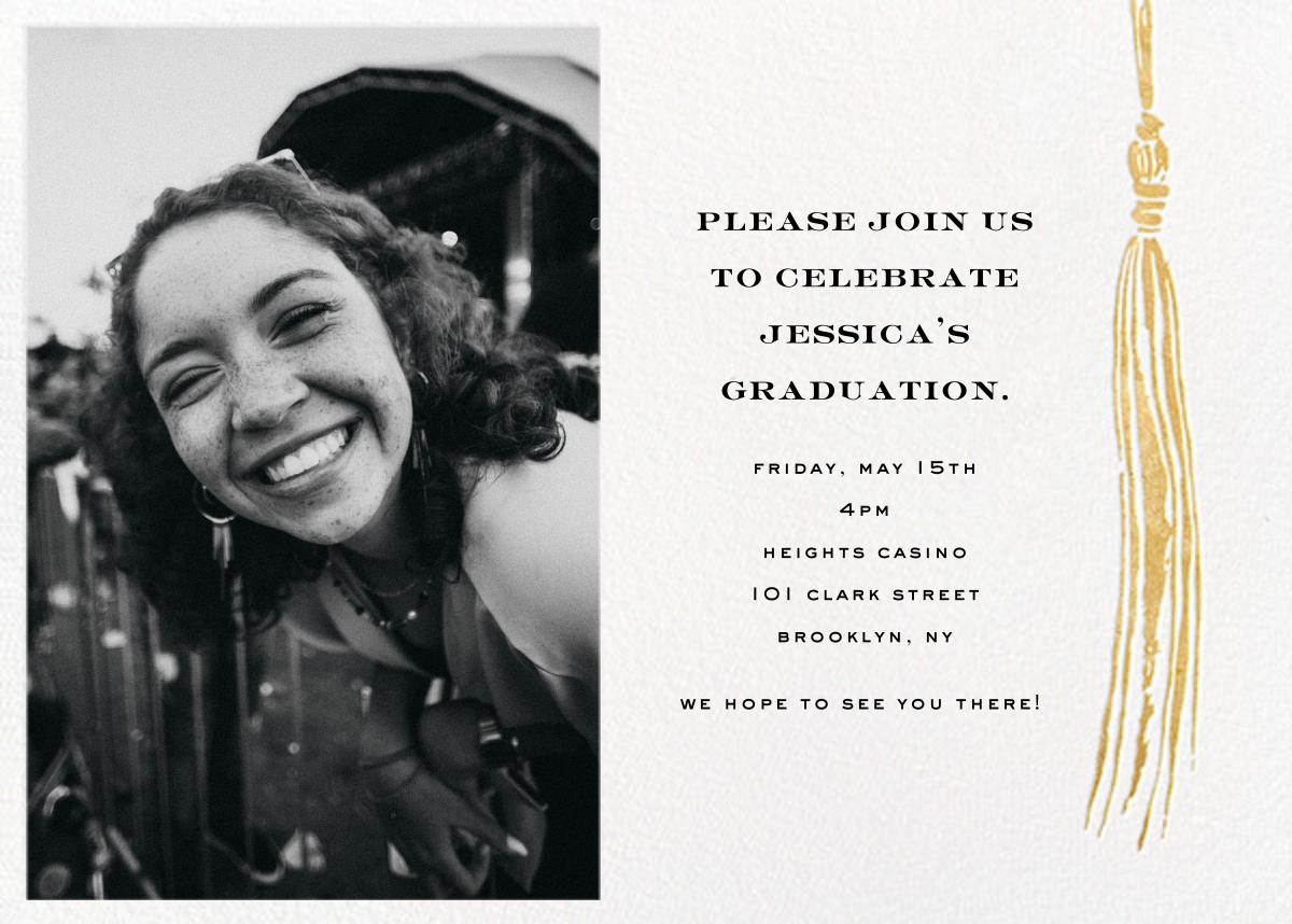 Tassel (Photo) - Gold - kate spade new york - Graduation party
