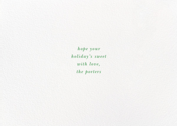 Hope Peace Cookies - kate spade new york - Holiday cards - card back