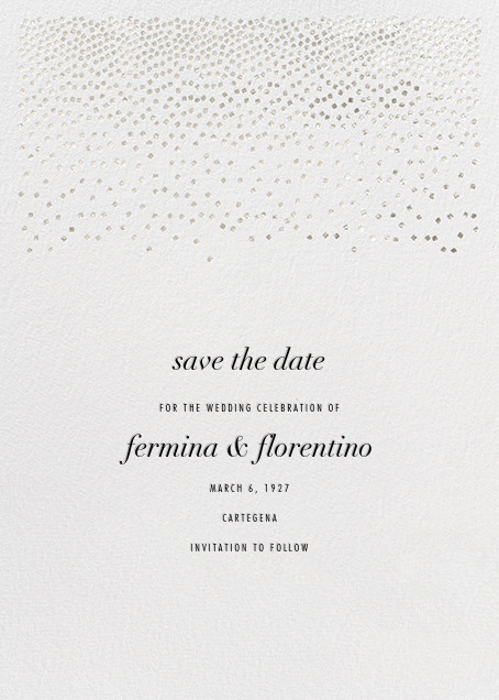 Jubilee II (Save the Date) - Silver - Kelly Wearstler - Save the date