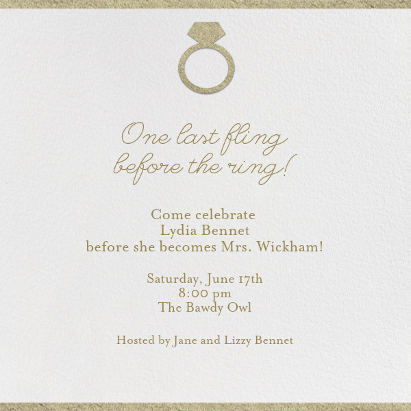 Put a Ring - Square - Paperless Post - Bachelorette party - card back