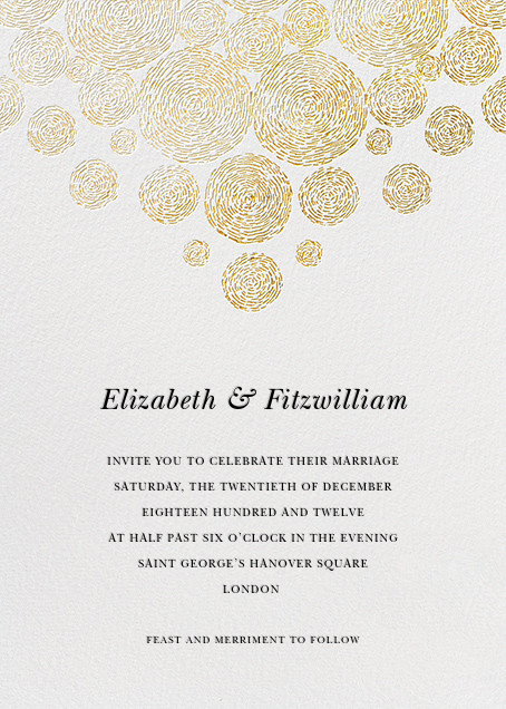 Radiant Swirls (Invitation) - Gold - Oscar de la Renta - All