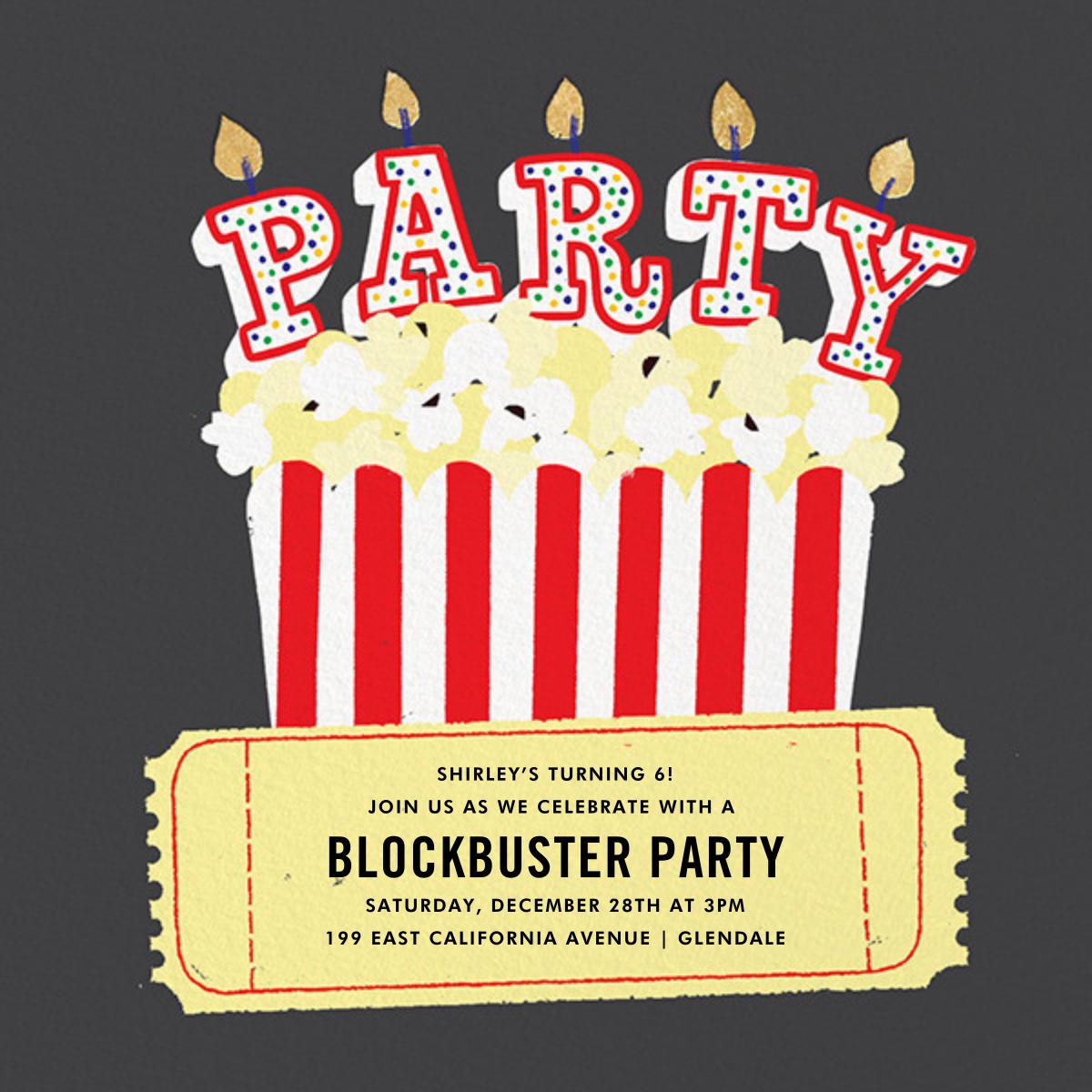 What's Poppin' - Paperless Post - Kids' birthday