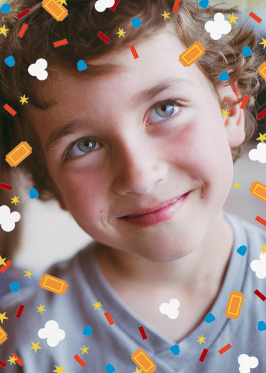 Filmfetti (Photo) - Blue - Paperless Post - Kids' birthday