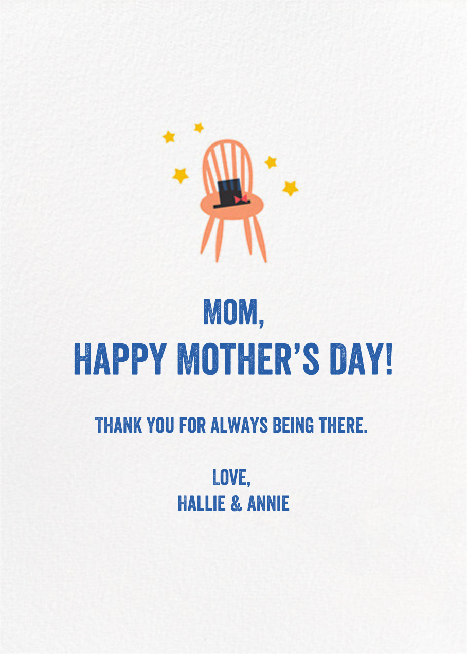 Whippersnapper - Fair - Hello!Lucky - Mother's Day - card back