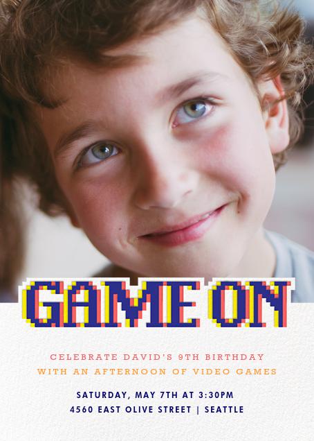 Power Up - Paperless Post - Kids' birthday