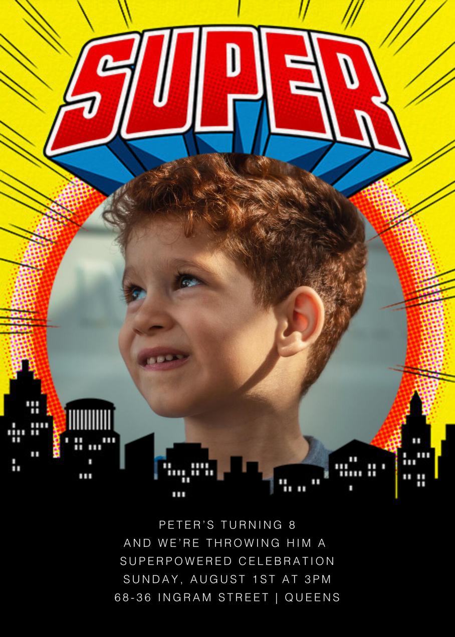 Super Skyline - Yellow - Paperless Post - Kids' birthday