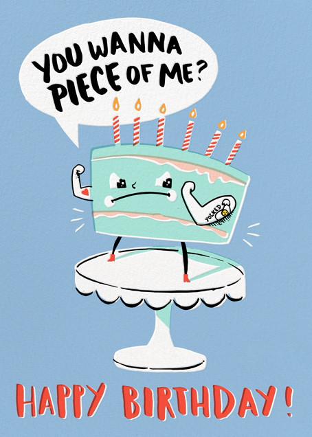 Cake Fight - Hello!Lucky - Funny birthday eCards