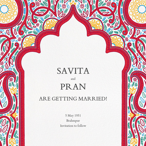 Dvaar (Save the Date) - White - Paperless Post - Save the date
