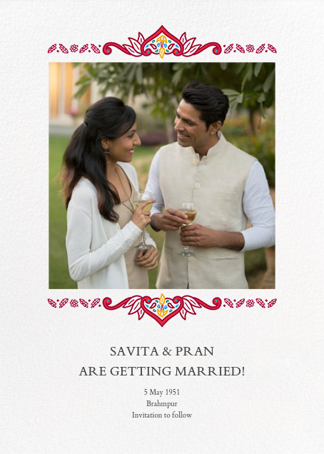 Dvaar (Photo Save the Date) - White - Paperless Post - Photo