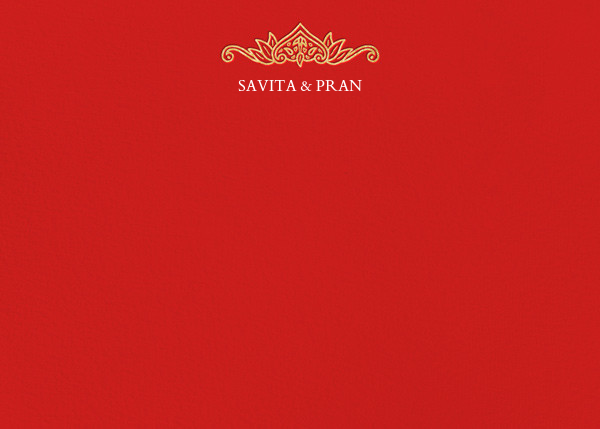 Dvaar (Stationery) - Red - Paperless Post - Personalized stationery