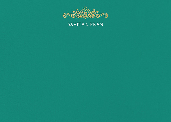 Dvaar (Stationery) - Teal - Paperless Post - Personalized stationery