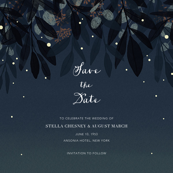 Laurelwood (Save the Date) - Blue - Paperless Post