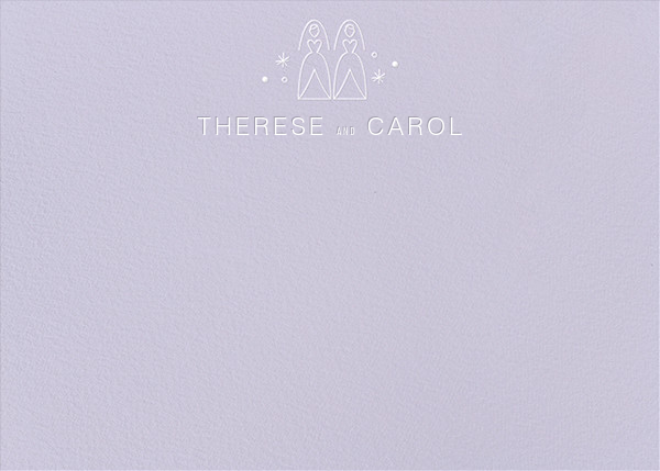 Iconic Brides (Stationery) - Lavender/White - Paperless Post - Personalized stationery