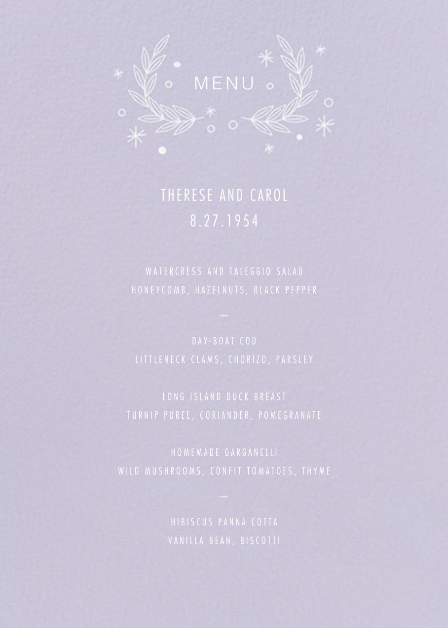 Iconic (Menu) - Lavender/White - Paperless Post - Menus