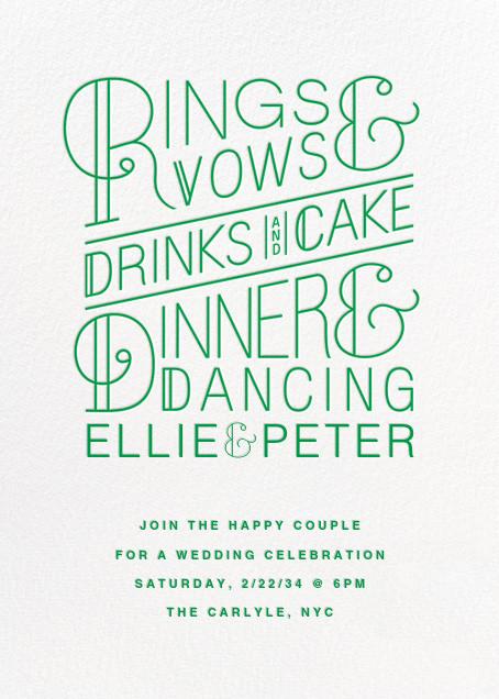 Bulletin (Invitation) - Emerald - Paperless Post - All