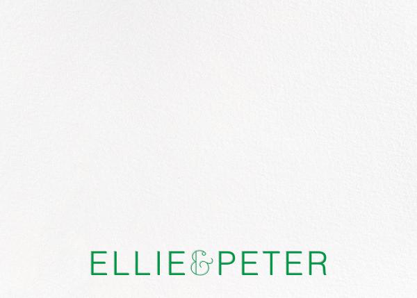 Bulletin (Stationery) - Emerald - Paperless Post