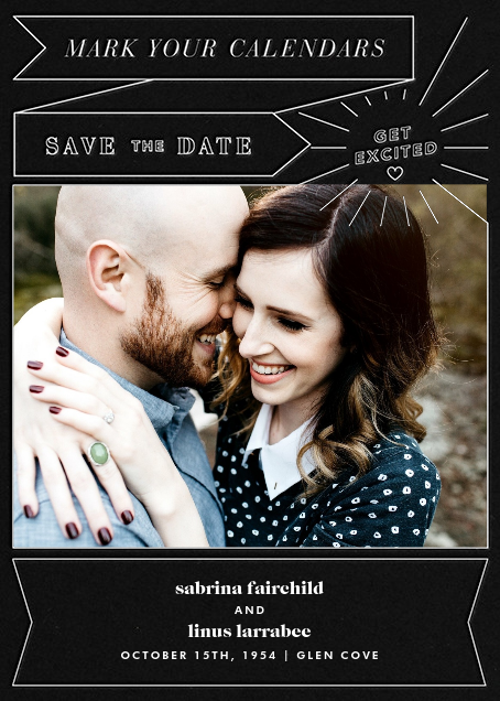 Chronology (Save the Date) - Black - Paperless Post - Photo