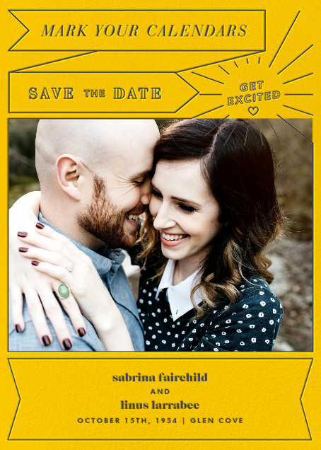 Chronology (Save the Date) - Mustard - Paperless Post - Photo
