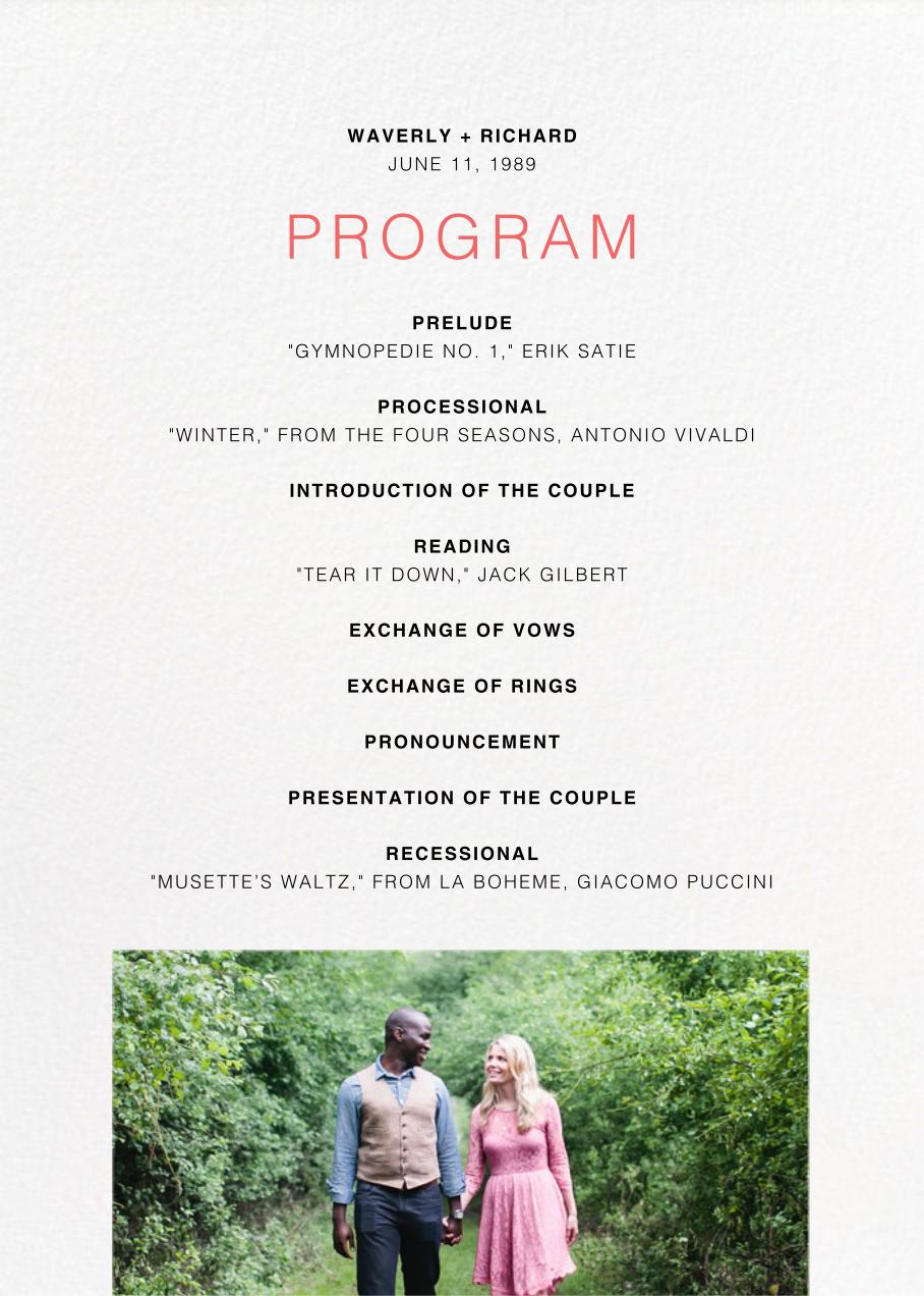 Tableau (Program) - Paperless Post - Menus and programs