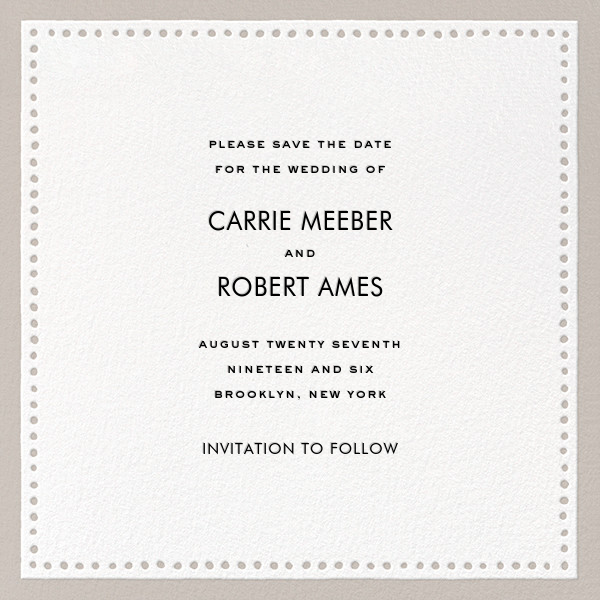 Charlotte Street II (Save the Date) - Gray - kate spade new york - Save the date