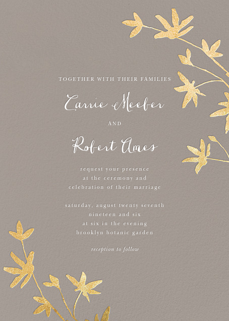 Oliver Park II (Invitation) - Taupe/Gold - kate spade new york - All