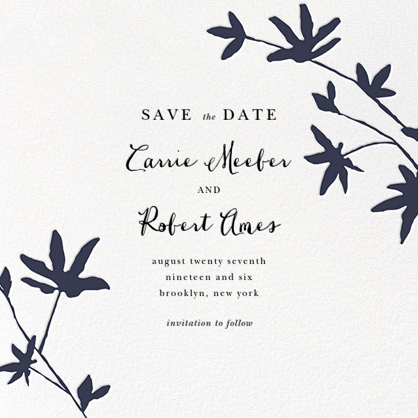 Oliver Park II (Save the Date) - White/Navy - kate spade new york - Save the date