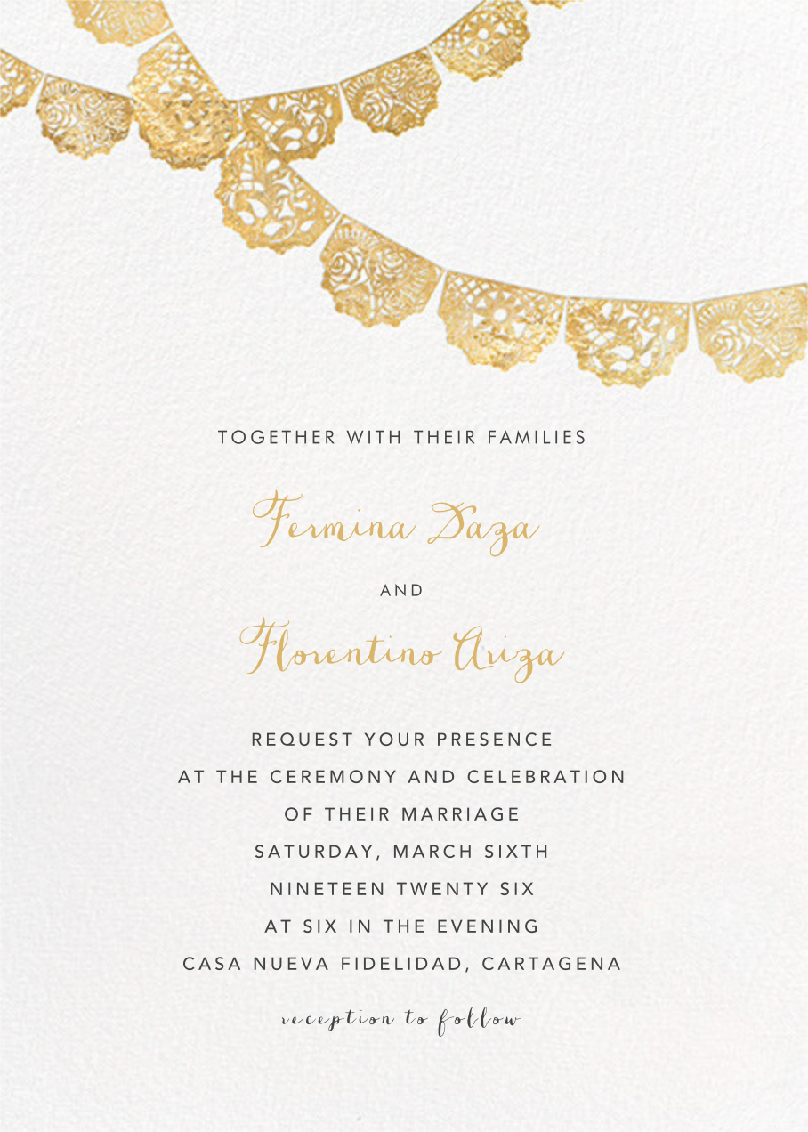 Tulum (Invitation) - Gold - Paperless Post - All